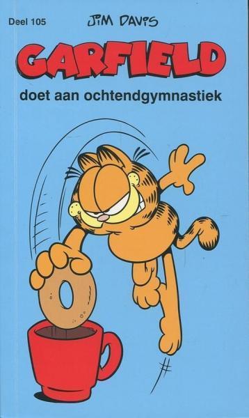 Garfield (Gekleurd/Loeb/De Leeuw/Boemerang) A105 Doet aan ochtendgymnastiek