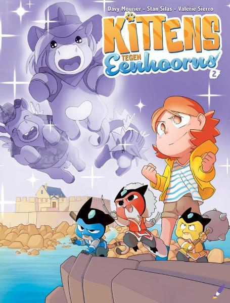 Kittens tegen... 2 Kittens tegen eenhoorns